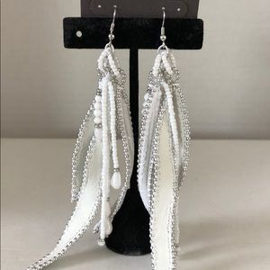 """Chico's Vicia Ott earrings have 4-5"""" drop."""